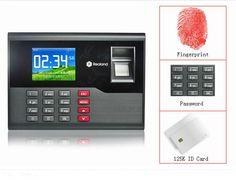 125K RFID Card & Fingerprint Time attendance Fingerprint Time Clock System Support French Language