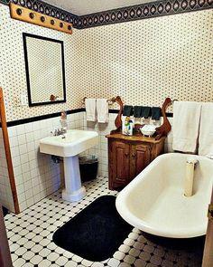Victorian Bathroom Sink Tub Framed Art