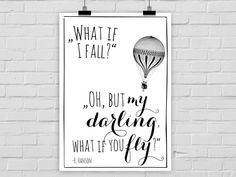 """Neue Kleider braucht die Wand! ♕ *Lieblingsdrucke* aus der Hauptstadt suchen Freifläche zur Entfaltung!  ♕ Der Kunstdruck """"What if you fly?"""" ist erhältlich in den *Größen*:  *DIN A4* (21,0 x..."""