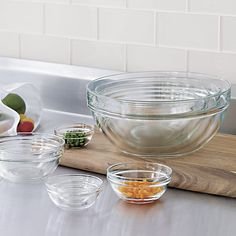 """10-Piece 2.25""""-10.25"""" Glass Nesting Bowl Set 