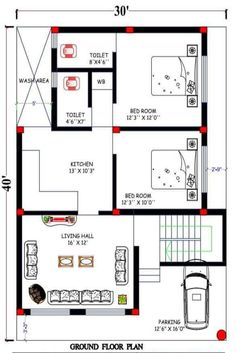 2bhk House Plan, Model House Plan, House Layout Plans, Duplex House Plans, House Floor Plans, Family House Plans, Unique House Plans, Indian House Plans, Beautiful House Plans