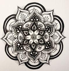 Dotwork mandala imprimer 135 x 135 cm sur papier par DotworkOrange