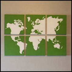 Hand Painted Map Art