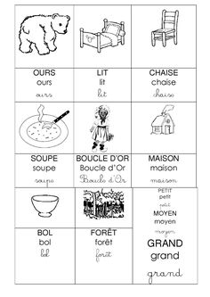Boucle d'or GS - chez Camille Core French, Petite Section, Free Printables, Gold, Preschool Math, Free Printable