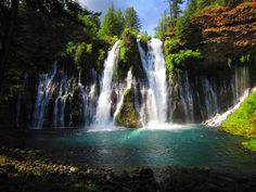 Burney Falls, CA. You can hop off the Pacific Crest Trail for a quick stop here.