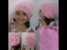 Crochet Hat - Squiggly Slouch Hat Tutorial (Toddler to Adult sizes). How to Crochet a Slouch hat For all sizes. This stitch goes by many names Faux Stitch and the Alpine Stitch Hat just to name a few. This hat is very easy to do and make for everyone in Slouch Hat Crochet Pattern, Crochet Hat Tutorial, Bonnet Crochet, Crochet Cap, Crochet Baby Hats, Crochet Beanie, Cute Crochet, Crochet For Kids, Crochet Stitches