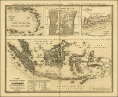 Map of the Dutch colonial possessions around 1840, including the Dutch East Indies, Curacao and Dependencies, Suriname, and the Dutch Gold Coast