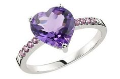 Amethyst Heart Ring: