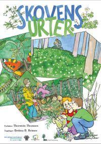 I børnehæftet Skovens urter kan du finde tegninger, aktiviteter og historier om urter. Tegning: Bettina B. Reimer.