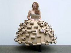 Cardboard catwalk: recycled costumes by Strode college