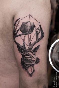 Tatuaggi con renne, cervi e alci: foto e significato