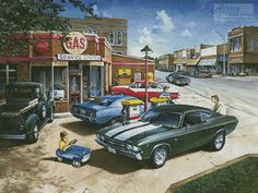 Muscle Car Dreams - Cross Stitch Chart - Click Image to Close