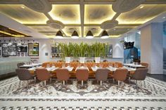The exchange restaurant interior design in Singapore