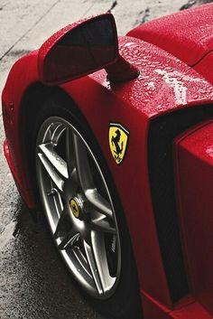 Ferrari Sports Car Curves and Tight Edges.