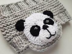 Panda Headband Knit Headband Ear Warmer Head Wrap Girls