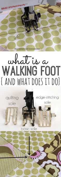 How to Use a Walking Foot || theseasonedhomemaker.com
