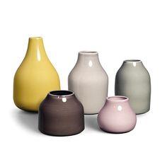 Botanica mini vases from Kähler by Mette Bache, Barbara Bendix Becker Ceramic Pots, Glass Ceramic, Ceramic Pottery, Bud Vases, Flower Vases, Flowers, Decoupage, Design Vase, European Home Decor