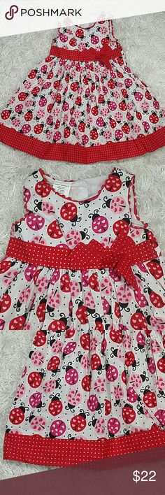 Red ladybug Summer Dress. Kids Adorable red summer dress with ladybugs design. Button closer in the back.  This item is brand new and never use. #123 - 12319  Dresses