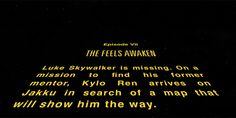 """A long time ago, in a galaxy far, far away… 