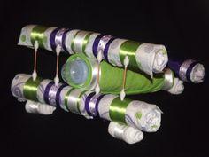 Airplane Diaper Cake - Like Kita's Kreations on Facebook