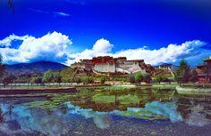 世界遺産 ポタラ宮 ラサのポタラ宮歴史地区の絶景写真画像  中国