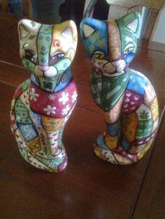 Ceramica pintada a mano una hermosa pareja