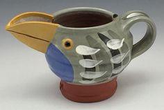 GILLIAN McMillan. Slip-painted earthenware Jugbird Earthenware, Stoneware, My Images, Mugs, Tableware, Dinnerware, Tumblers, Tablewares, Mug