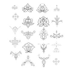 Unalome tattoo - MIX & MATCH flash for Sydney each design is available on its own – Unalome tattoo