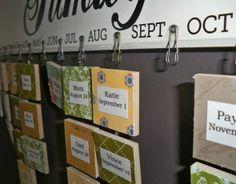 Family Birthday Calendar....I so need to do this!  :)