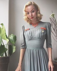 1940s inspired look #vintage #1940s #1930s