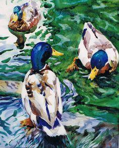 Brian Baxter: Mallards Mallard, Birds, Painting, Art, Art Background, Bird, Painting Art, Paintings, Kunst