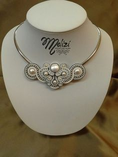 nice White soutache necklace....