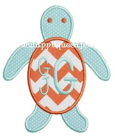 Sea Turtle 2 Applique Design Applique Cafe