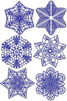 Advanced Embroidery Designs - Snowflake Redwork