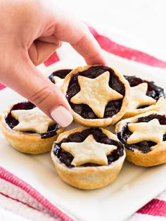 Mini blueberry pies are a crowd pleaser dessert for Fourth of July | www.ifyougiveablondeakitchen.com