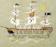 by Cross Eyed Cricket.  I plan on stitching the ghosts and the sea monster in glow in the dark threads.