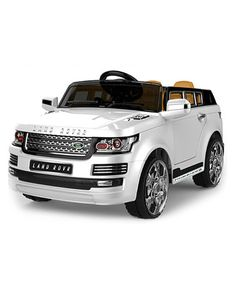 Look what I found on #zulily! White Luxury SUV Ride-On by Best Ride On Cars #zulilyfinds
