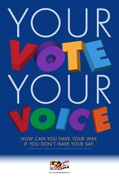 """Another version of the """"get out the vote"""" poster for bipac.net. Playful."""
