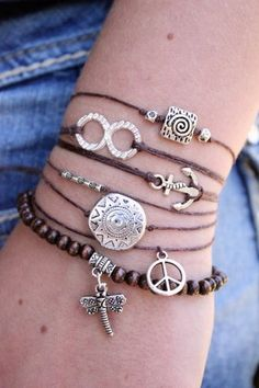 Silver Anchor - Stackable Charm Bracelet