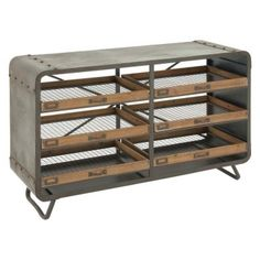 Add some industrial style and extra storage to your living space with the DecMode Metal and Wooden Console Table . This heavy-duty iron console table. Industrial Console Tables, Iron Console Table, Wooden Console Table, Wooden Table Top, Wood Sideboard, Wood Tray, Entryway Console, Metal Table Frame, Wood Basket