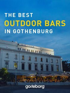 The best outdoor bars & restaurants in Gothenburg, Sweden. Photo: Superstudio