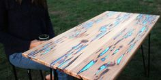 Rustic DIY With a Twist: Magical Glow-in-the-Dark Resin-Inlay and Table