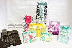Stampin' Up With Sabrina: New Gift Bag Punch Board!  Makes boxes with a flip top lid as well as bags.