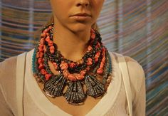 Statement piece - necklace from Fenton Fallon's spring 2012 line. Want Want Want!