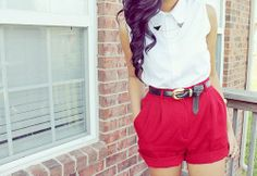 tiro alto  I want shorts like this! In like a tan color