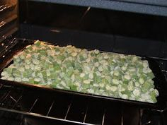Canning Granny: Freezing Okra Mama's Way  Baking in the oven prior to freezing gets rid of that blanching in water process and keeps the pod firm.