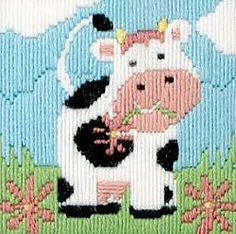 Betsy the Cow Long Stitch AKL07
