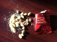 Lightly peanutted salt.