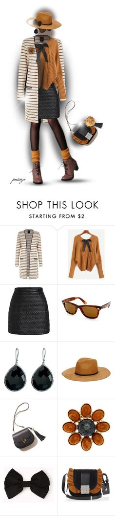 """""""Stripes and Bows"""" by rockreborn ❤ liked on Polyvore featuring New Look, Ray-Ban, Ippolita, Yochi, Forever 21, Lanvin, polyvorecommunity, polyvoreeditorial and stylingideas"""