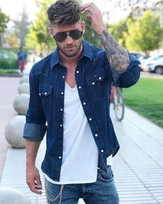 Mens Fashion Casual – The World of Mens Fashion Stylish Mens Outfits, Casual Outfits, Men Casual, Fashion Outfits, Fashion Blogs, Fashion Hair, Style Fashion, Summer Outfits, Fashion Trends